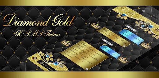 GO SMS DIAMOND GOLD THEME pc screenshot