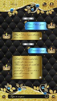 GO SMS DIAMOND GOLD THEME APK screenshot 1