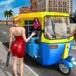 Modern Tuk Tuk Auto Rickshaw: Free Driving Games icon