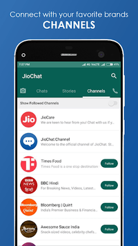 JioChat: HD Video Call APK screenshot 1