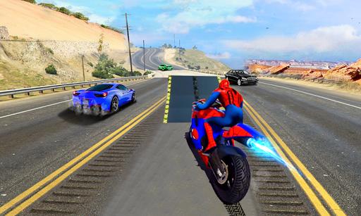 Spiderman Car Vs Bike Race Ultimate APK screenshot 1