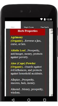 Wicca Herbs APK screenshot 1