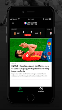Univision Deportes: Liga MX, MLS, Fútbol En Vivo APK screenshot 1