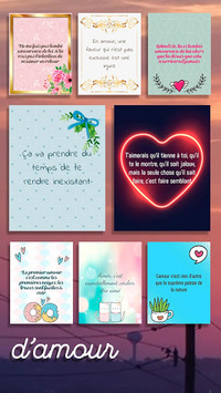 Love Messages in French – Text Editor & Stickers APK screenshot 1