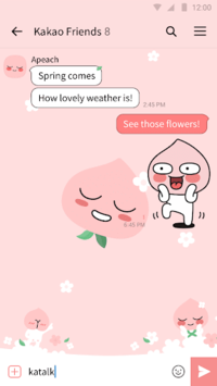 Apeach - KakaoTalk Theme APK screenshot 1
