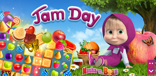 Masha and The Bear Jam Day Match 3 games for kids pc screenshot
