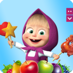 Masha and The Bear Jam Day Match 3 games for kids APK icon