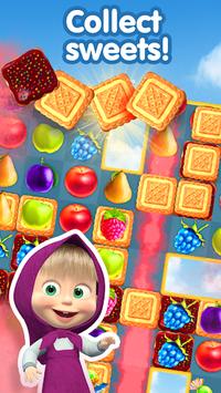 Masha and The Bear Jam Day Match 3 games for kids APK screenshot 1