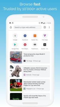Kiwi Browser - Fast & Quiet APK screenshot 1