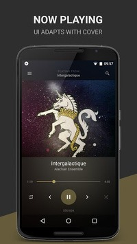BlackPlayer Music Player APK screenshot 1