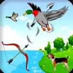 Archery bird hunter icon