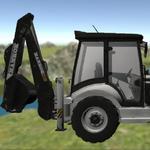 Traktor Digger 3D icon