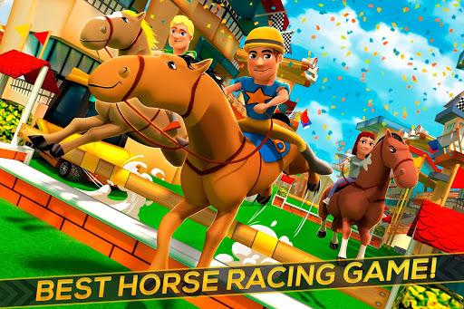 Cartoon Horse Riding - Derby Racing Game for Kids APK screenshot 1