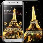 Gold paris tower Theme FOR PC