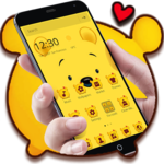 Cuteness Yellow Pooh Bear Theme icon