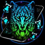 Blue Dark Wild Wolf Theme icon