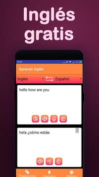 Translator : Spanish English & Learn English free APK screenshot 1