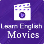 Learn English with english movies subtitle icon
