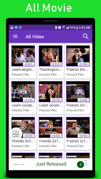 Learn English with english movies subtitle APK screenshot 1