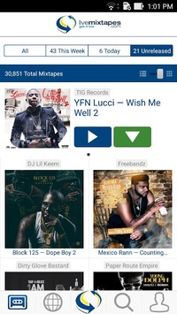 LiveMixtapes - Free Mixtapes APK screenshot 1