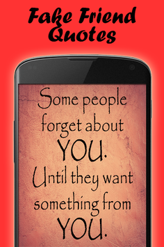 Quotes about fake people APK screenshot 1