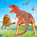 Wild Lion vs Dinosaur: Animal Battle Simulator icon