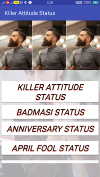 Killer Attitude Status APK screenshot 1