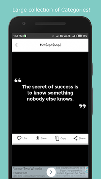 Best Quotes and Status APK screenshot 1