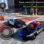 Police Car Driving in City icon