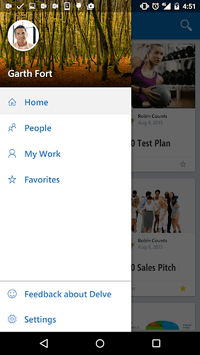 Office Delve - for Office 365 APK screenshot 1