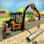 City Road Builder Construction Excavator Simulator icon