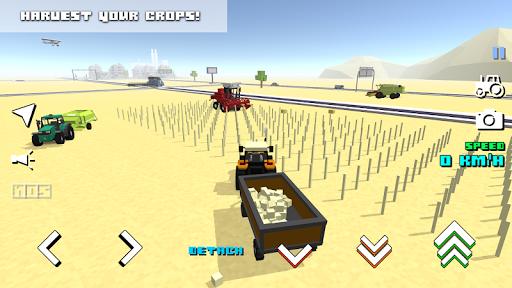 Blocky Farm Racing & Simulator APK screenshot 1