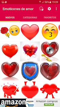 💕😍Love emoticons and stickers for whatsapp APK screenshot 1