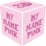 3D My Name Pink Live Wallpaper FOR PC