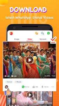 Welike Status(Hillo)- Status video downloader APK screenshot 1