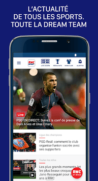 rmc sport news info foot et sport en direct apk download for free. Black Bedroom Furniture Sets. Home Design Ideas