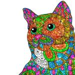 Cats Glitter Color by Number - Adult Coloring Book icon