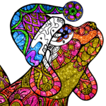 Dogs Glitter Color by Number - Adult Coloring Book icon