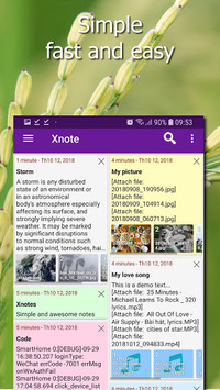 Xnotes - notes, notepad, sticky notes, notebook APK screenshot 1