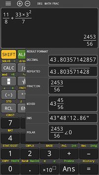 hp 35s fx Scientific Calculator 570 es plus free APK screenshot 1