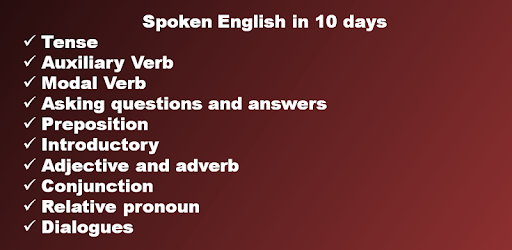 Spoken English in 10 days pc screenshot
