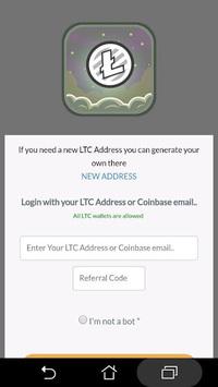 LTC FAUCET - EARN FREE LITECOIN APK screenshot 1