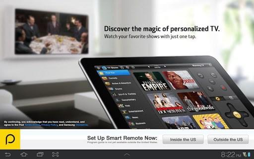 Peel Smart Remote (Galaxy Tab) APK screenshot 1