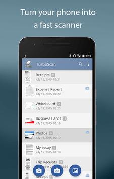 TurboScan: scan documents & receipts in PDF APK screenshot 1