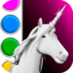 Unicorn 3D Coloring Book FOR PC