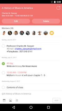 ClassUp - Schedule, Note for Students APK screenshot 1