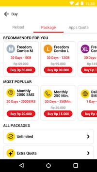 myIM3 - Cek Kuota & Beli Paket Internet APK screenshot 1