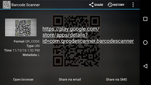 Barcode Scanner APK screenshot 1