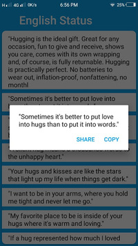 Romantic Status 2018 APK screenshot 1