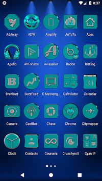 Cyan Icon Pack v6.2 👻Free👻 APK screenshot 1